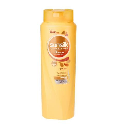 شامپو مخصوص موهای خشک 600 میلی لیتر مدل Soft And Smooth سان سیلک
