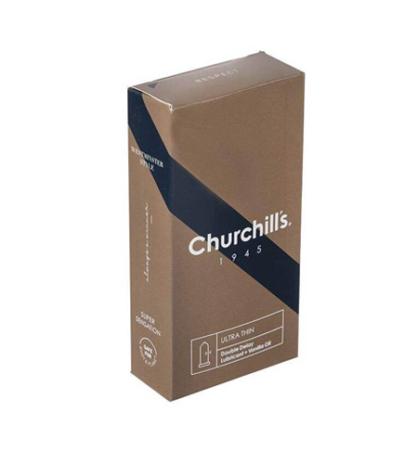 کاندوم چرچیلز مدل Ultra Thin بسته 12 عددی
