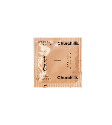 کاندوم چرچیلز مدل Ribbed & Dotted Red، بسته 12 عددی