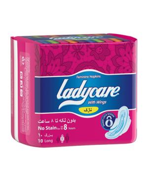 نوار بهداشتی بالدار نازک ایرلید لیدی کر Ladycare بسته 10 عددی