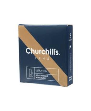 کاندوم چرچیلز فوق العاده نازک مدل UltraThin بسته 3 عددی