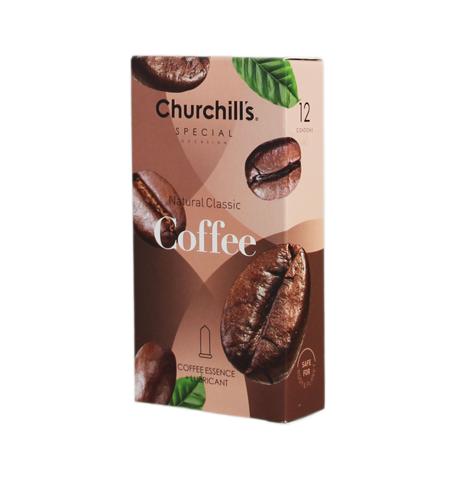 کاندوم چرچیلز مدل Coffee، بسته 12 عددی