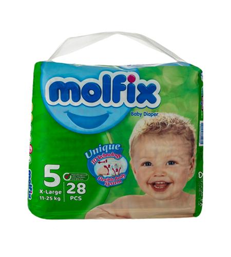 پوشک بچه molfix سایز ۵، 28 عددی