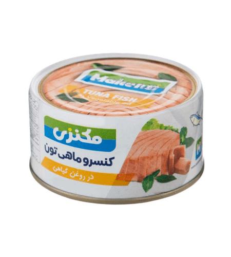 کنسرو ماهی تن مکنزی در روغن گیاهی ۱8۰ گرمی