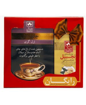 پک عیدانه چای ارل گری دبش 500 گرمی با یک بسته چای کیسه ای 25 عددی رایگان