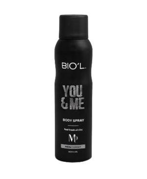 اسپری خوشبو کننده بدن مردانه بیول مدل You & Me حجم 150 میلی لیتر