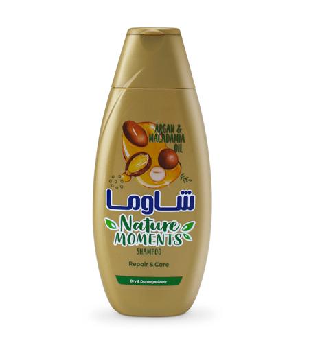 شامپو مو شاوما مدل Argan and Macadamia Oil حجم 400 میلی لیتر